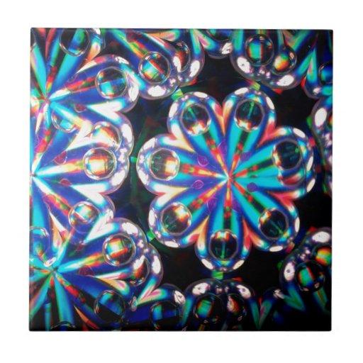 Abstract Crystal Reflect Eyes Tiles