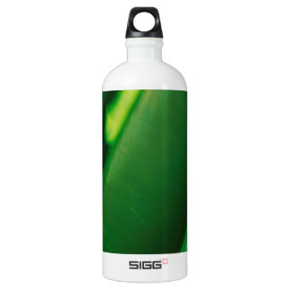 Abstract Crystal Reflect Green Aluminum Water Bottle