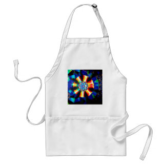 Abstract Crystal Reflect Medal Adult Apron