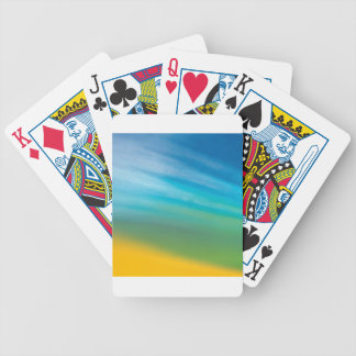 Abstract Crystal Reflect Morn Bicycle Card Deck
