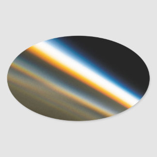 Abstract Crystal Reflect Motorway Oval Sticker