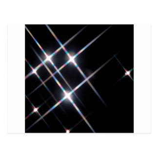 Abstract Crystal Reflect Prism Stars Postcard