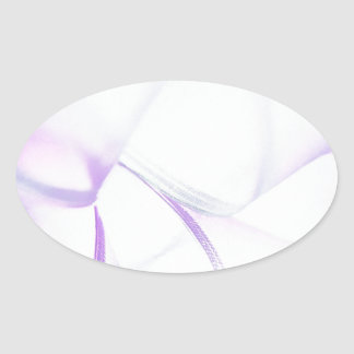 Abstract Crystal Reflect Purple Smash Oval Sticker
