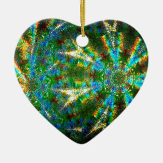 Abstract Crystal Reflect Shuriken Ceramic Ornament