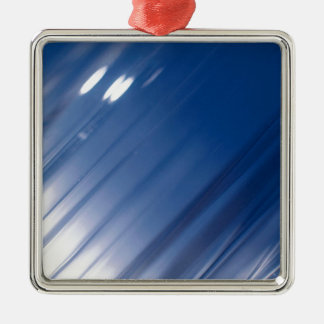 Abstract Crystal Reflect Slide Metal Ornament