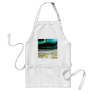 Abstract Crystal Reflect Sonic Adult Apron