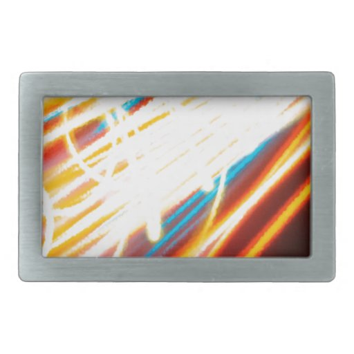 Abstract Crystal Reflect Speedway Belt Buckle
