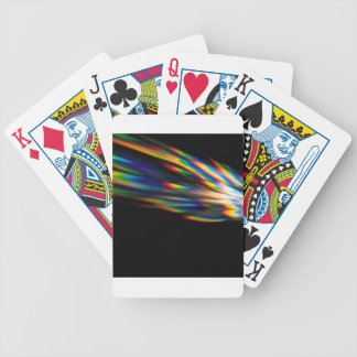 Abstract Crystal Reflect Spike Bicycle Poker Deck