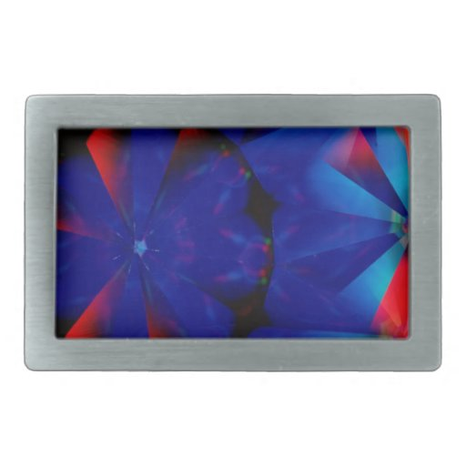 Abstract Crystal Reflect Spooky Rectangular Belt Buckle