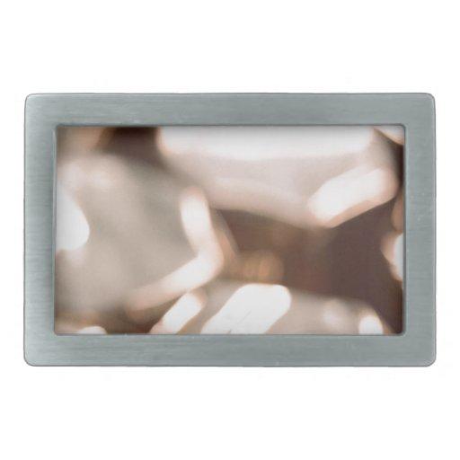Abstract Crystal Reflect Stones Rectangular Belt Buckles