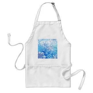 Abstract Crystals Blue Ice Adult Apron