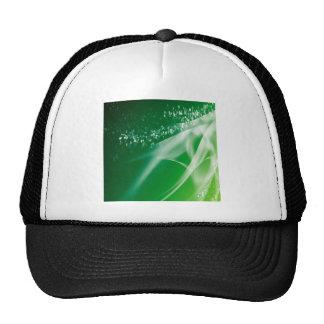 Abstract Crystals Green Twilight Trucker Hats