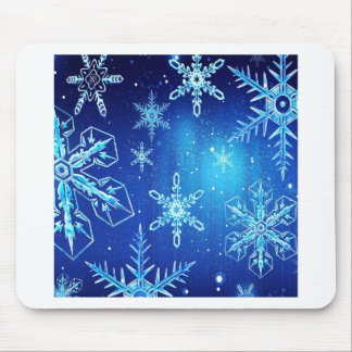 Abstract Crystals Perfect Snow Flakes Mouse Pad