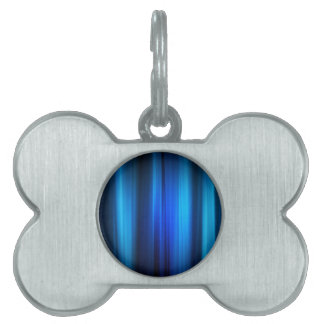 Abstract Crystals Stretched Blue Bars Pet Tags