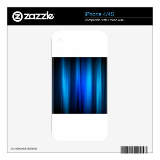 Abstract Crystals Stretched Blue Bars iPhone 4S Decal
