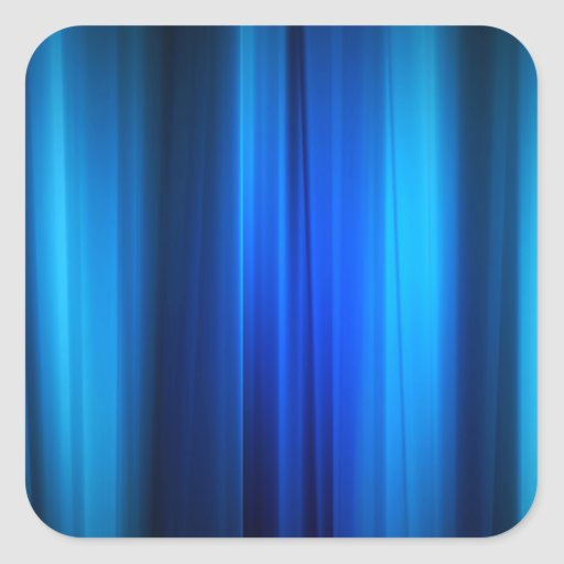 Abstract Crystals Stretched Blue Bars Square Stickers