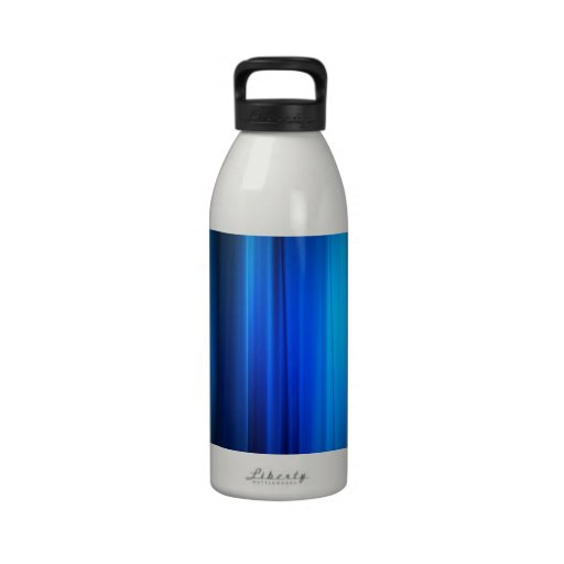 Abstract Crystals Stretched Blue Bars Drinking Bottles