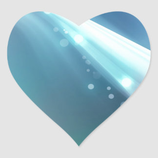 Abstract Crystals Within The Focus Heart Sticker
