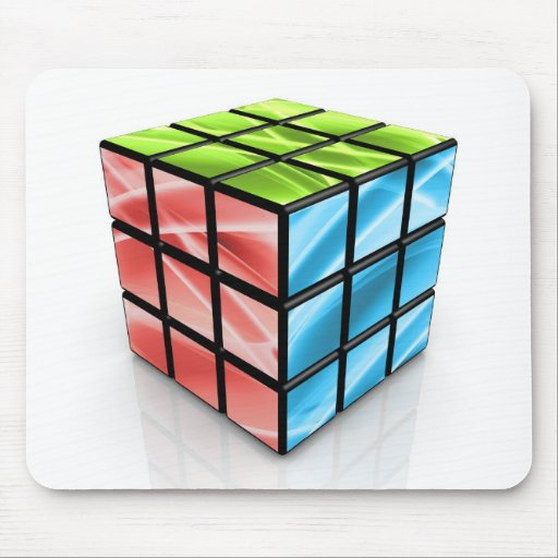 Abstract Cube Mouse Mats