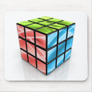 Abstract Cube Mouse Pad