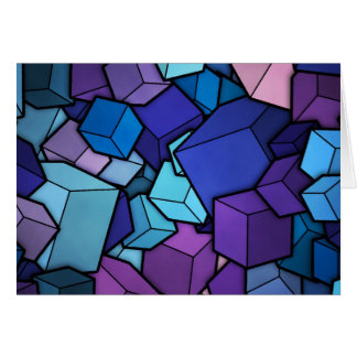 Abstract Cubes Card