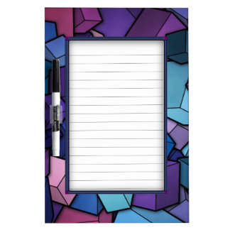 Abstract Cubes Dry-Erase Board