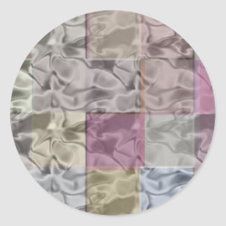 Abstract Cubes in Quiet Pastel Colors Classic Round Sticker