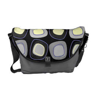 Abstract Cubes of Gray & Yellow Courier Bag