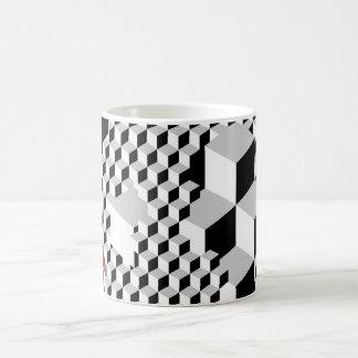 abstract cubic pattern coffee mug