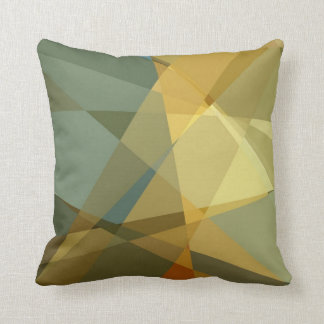 Abstract Cubism Pattern 2 Throw Pillows