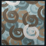 "Abstract Curls Teal Cloth Napkin<br><div class=""desc"">Abstract Curls Teal blue brown stylish</div>"