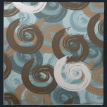 """Abstract Curls Teal Cloth Napkin<br><div class=""""desc"""">Abstract Curls Teal blue brown stylish</div>"""