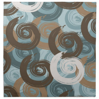 Abstract Curls Teal Cloth Napkin
