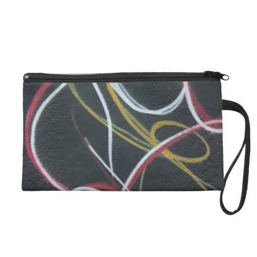Abstract - curved lines wristlet clutch