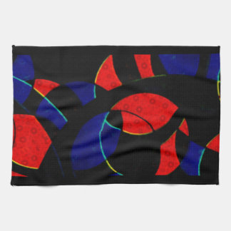 Abstract Curves American MoJo Kitchen Towels