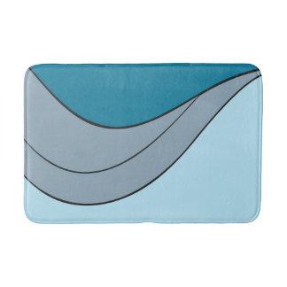 abstract curves bath mat
