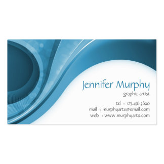 Abstract Curves - Blue Business Card