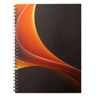 Abstract Curves Spiral Notebooks