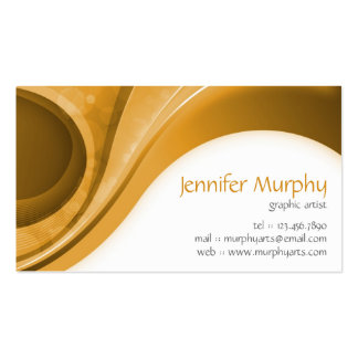 Abstract Curves - Orange Business Card