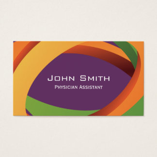 Abstract Curves Physician Assistant Business Card