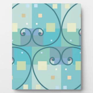 Abstract curves plaque