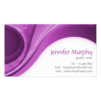 Abstract Curves - Purple Business Card