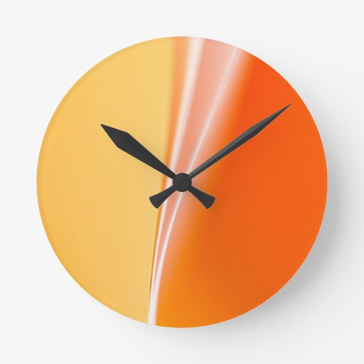 Abstract Curves Round Clock
