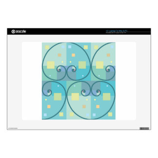 """Abstract curves skin for 15"""" laptop"""