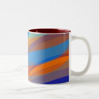 Abstract Curves Two-Tone Coffee Mug