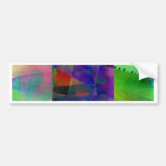 Abstract cylinder created by Christine Bässler Bumper Sticker