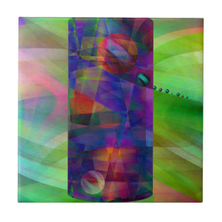 Abstract cylinder created by Christine Bässler Tile