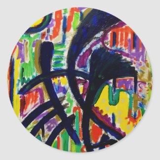 Abstract D 7 by Piliero Classic Round Sticker