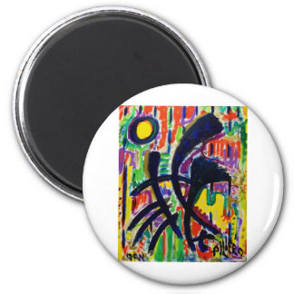 Abstract D 7 by Piliero 2 Inch Round Magnet