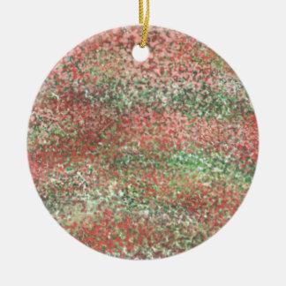 Abstract D Ceramic Ornament